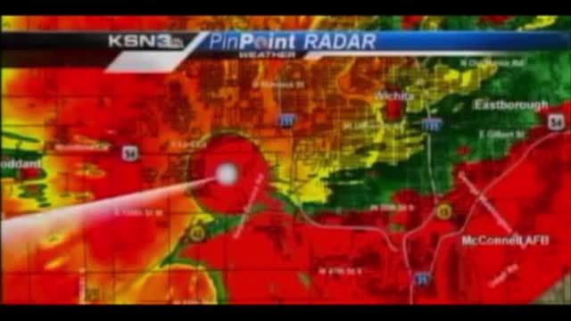 News video: RAW: TV Staff Take Cover From Tornado