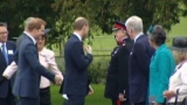 News video: Britain's Princes William and Harry open care centre for soldiers